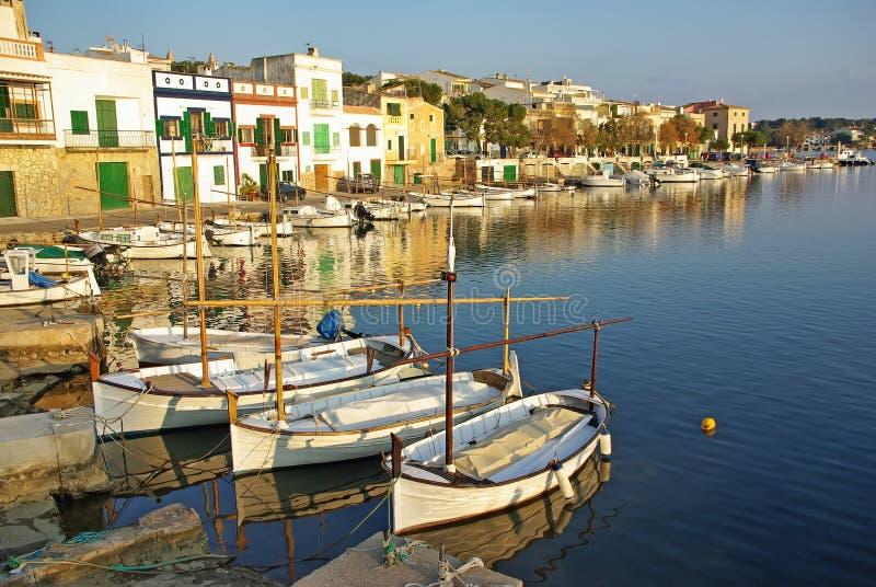 Porto Colom pier royalty free stock photos