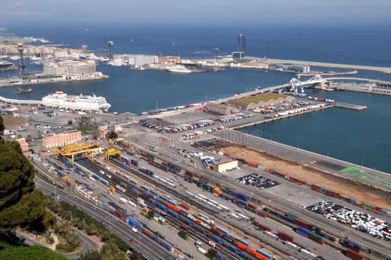 Porto commerciale di Barcellona fotografia stock