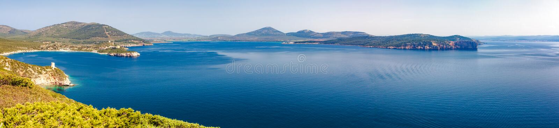 Porto Conte Panorama photographie stock libre de droits