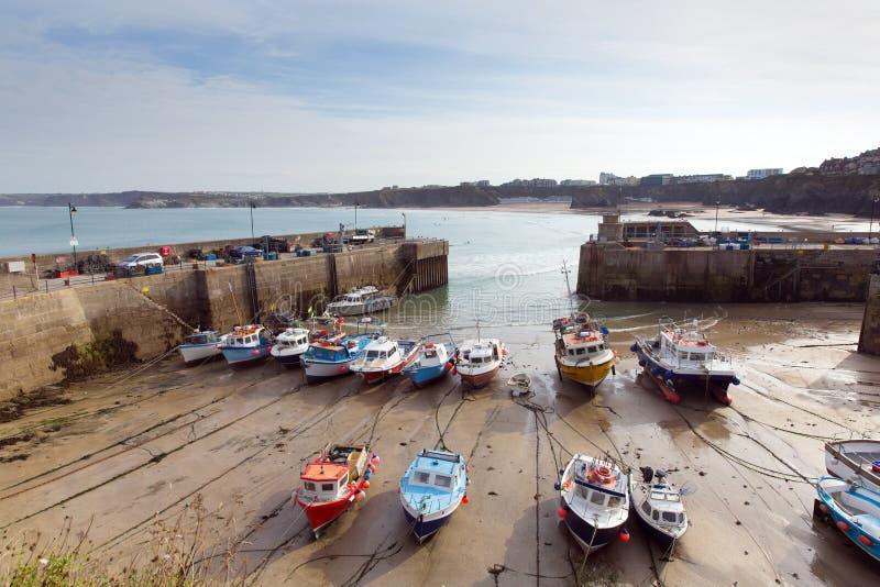 Porto Cornovaglia del nord Inghilterra Regno Unito di Newquay immagini stock libere da diritti