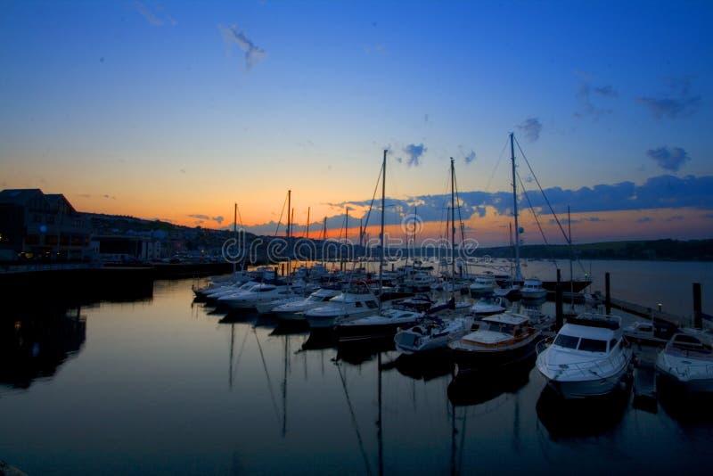 Porto Cornovaglia di Falmouth immagine stock