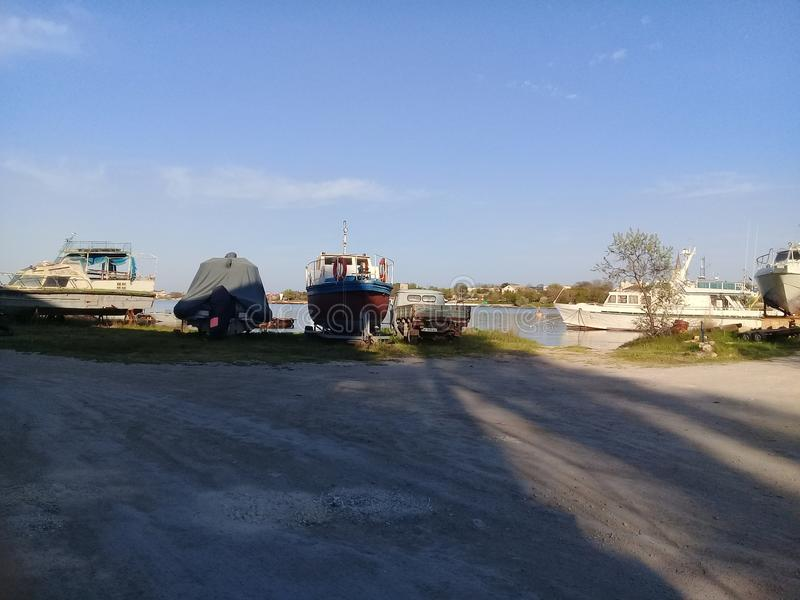 Porto in Crimea immagine stock libera da diritti