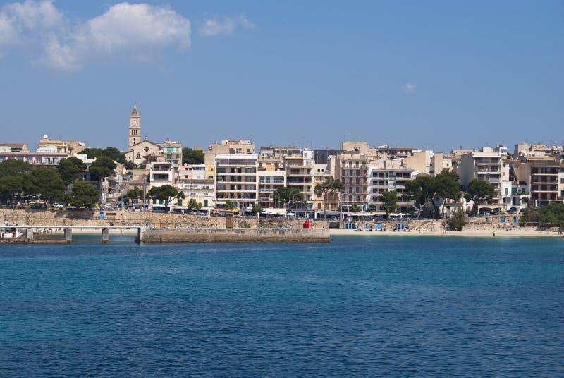Porto Cristo Beach And Town Center, Majorca Islan Stock Images