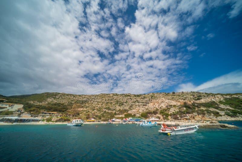 Porto d'avvicinamento di Agios Nikolaos immagine stock libera da diritti