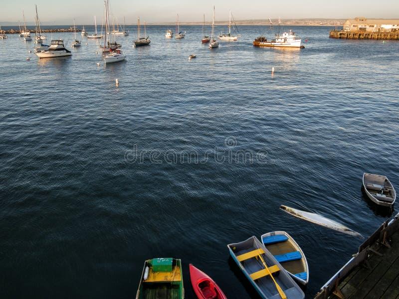 Porto da baía de Monterey fotografia de stock