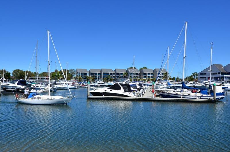 Porto da baía do fugitivo - Gold Coast Queensland Austrália fotografia de stock