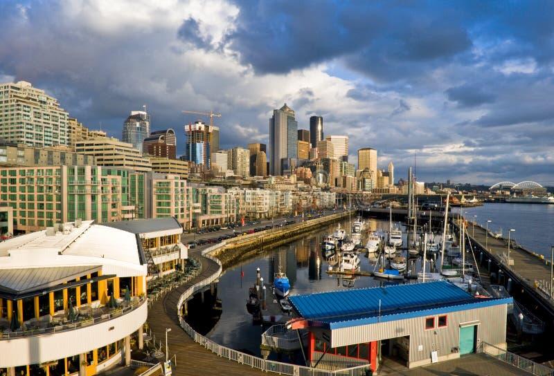 Porto da baixa de Seattle imagens de stock