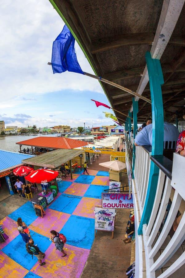 Porto da cidade de Belize fotografia de stock