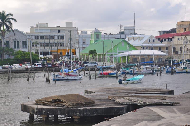 Porto da cidade de Belize em Belize foto de stock