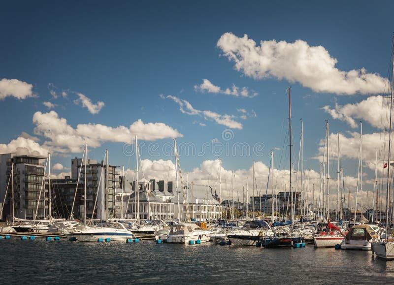 Porto da cidade de Helsingborg imagem de stock royalty free