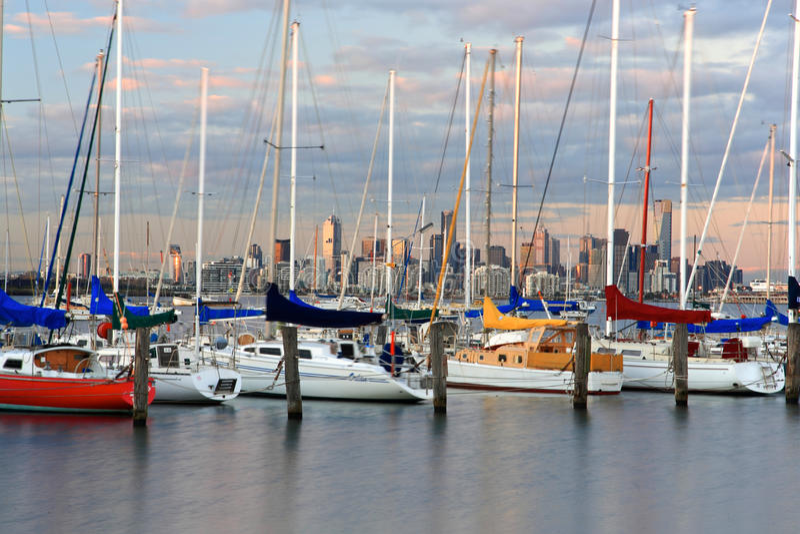 Porto da cidade de Williams, Melbourne imagens de stock royalty free