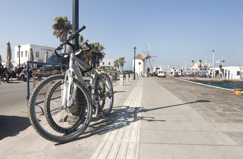 Porto da ilha de Paros fotos de stock royalty free