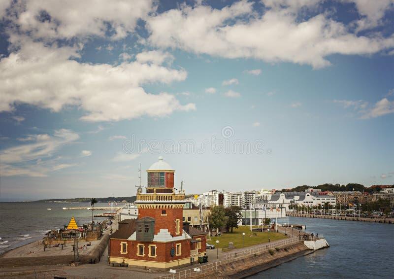 Porto da Suécia de Helsingborg fotografia de stock royalty free