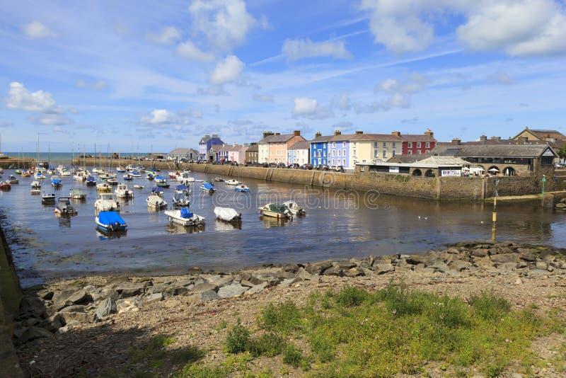 Porto de Aberaeron imagem de stock royalty free