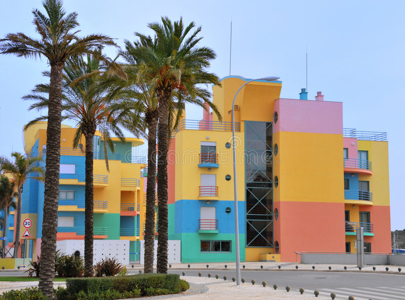 Porto de Albufeira foto de stock royalty free