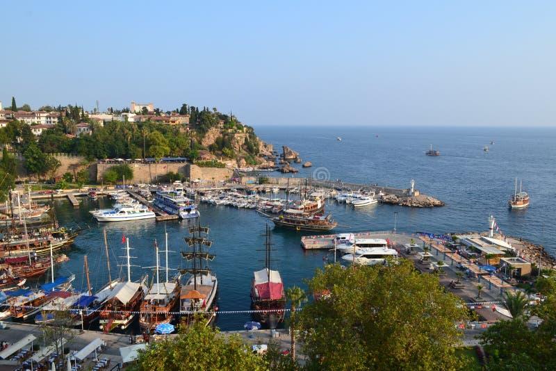 Porto de Antalia foto de stock