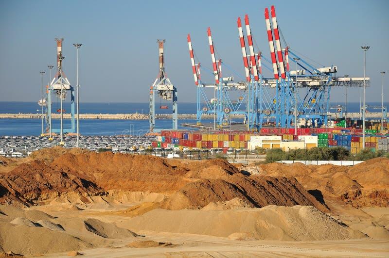 Porto de Ashdod. Israel. imagens de stock