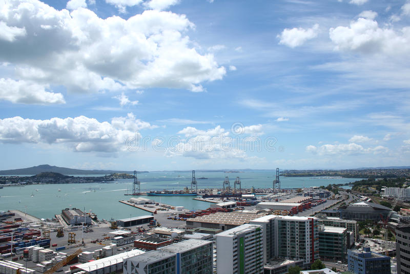Porto de Auckland imagem de stock