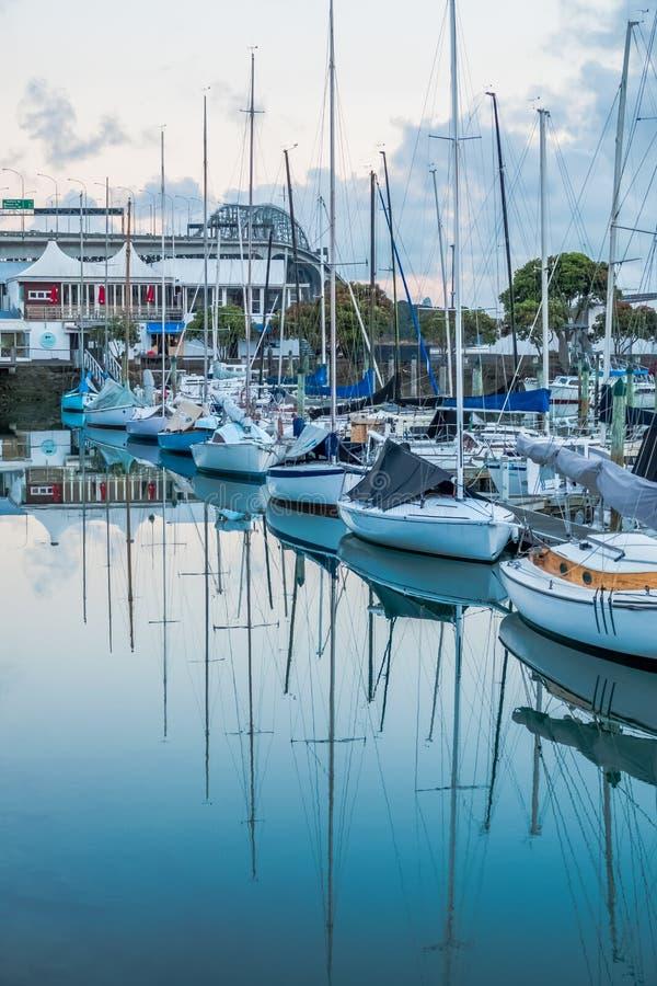 Porto de Auckland, Auckland, Nova Zelândia imagens de stock