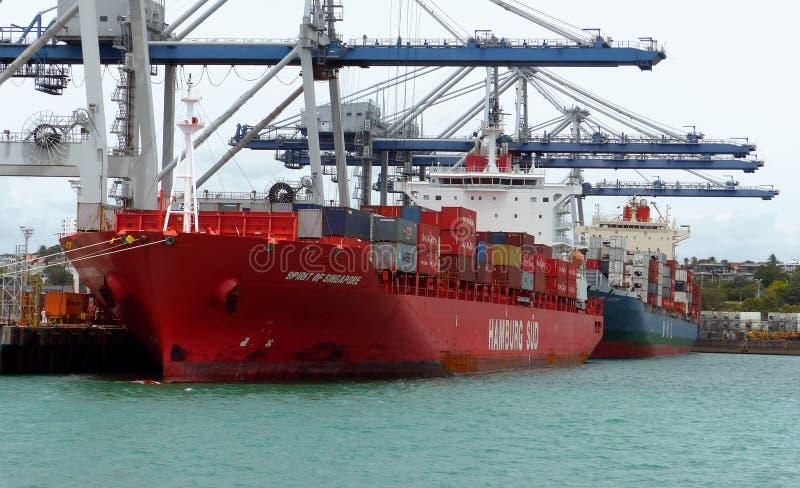 Porto de Auckland NZ foto de stock royalty free