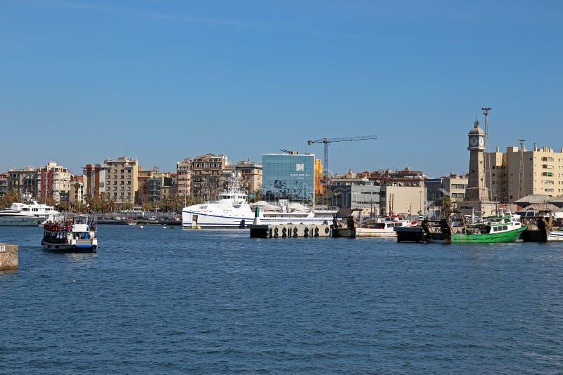 Porto de Barcelona, porto Vell da Espanha foto de stock