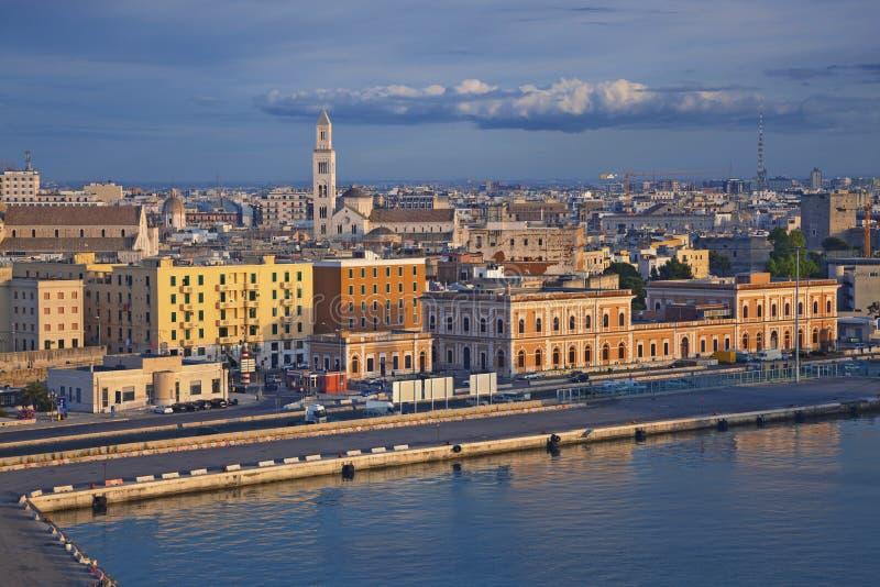 Porto de Bari fotografia de stock royalty free