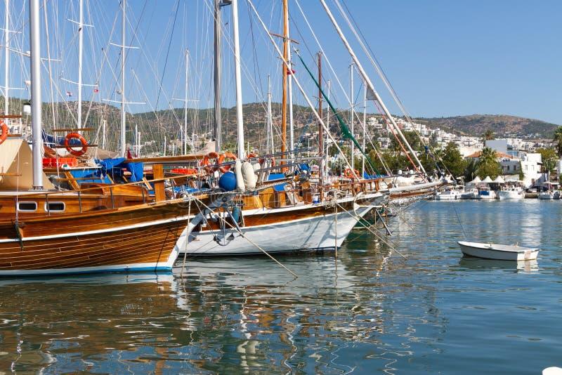 Porto de Bodrum fotos de stock royalty free