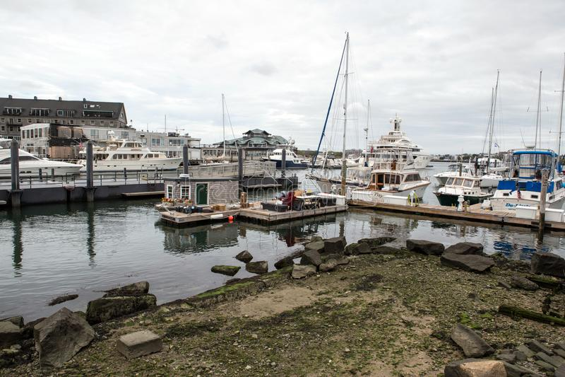 Porto de Boston imagens de stock