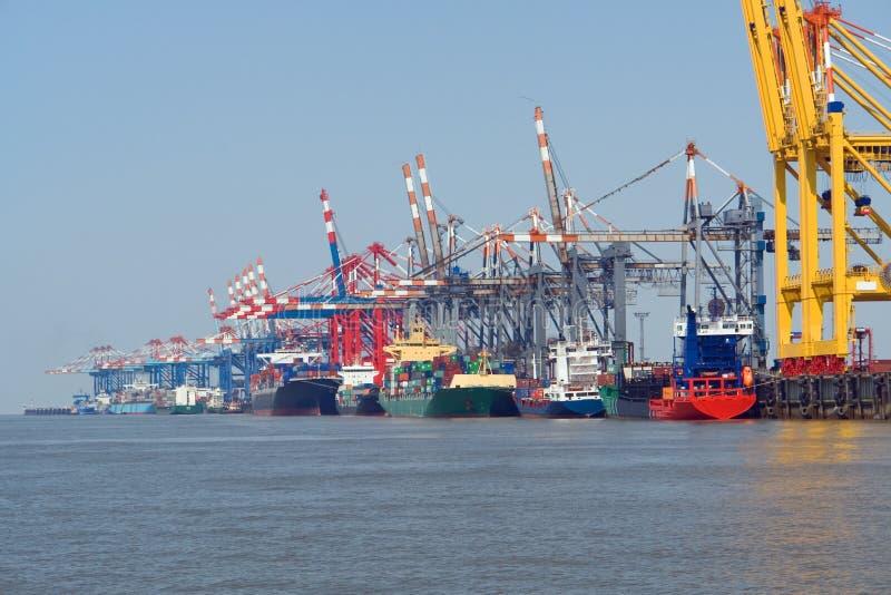 Porto de Bremerhaven imagem de stock