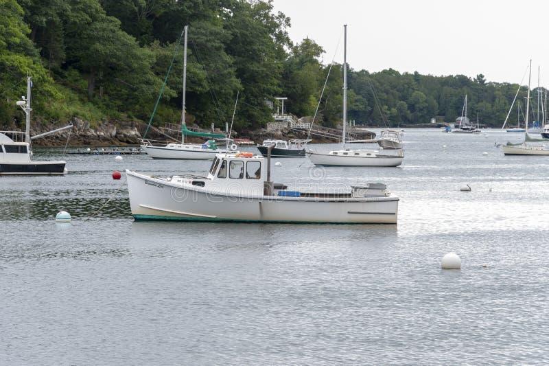 Porto de Brenda Lee Rockport do barco da lagosta foto de stock royalty free