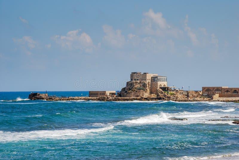 Porto de Caesarea Maritima imagem de stock royalty free