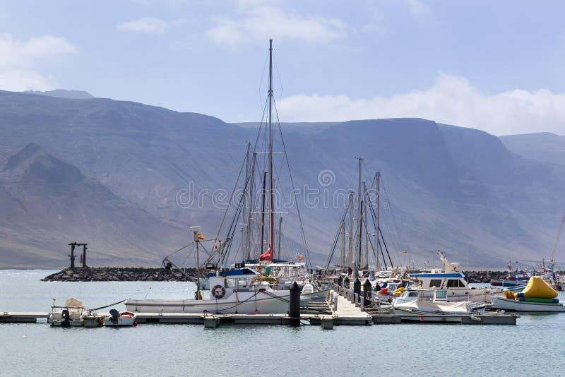 Porto de Caleta de Sebo no La Graciosa foto de stock