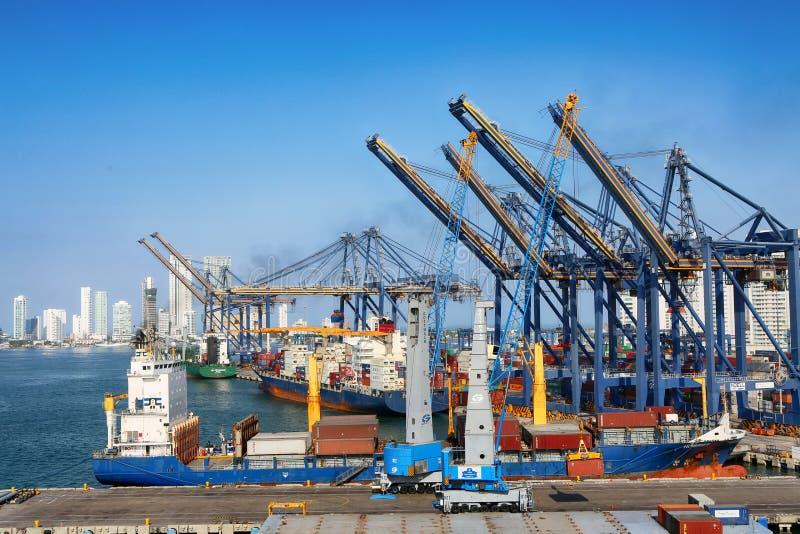Porto de Cartagena, Colômbia imagem de stock royalty free