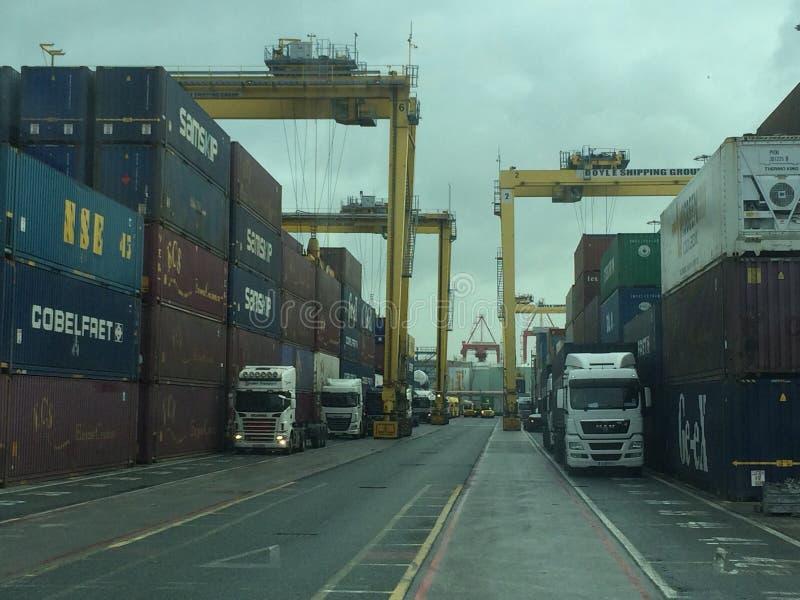 Porto de Dublin imagem de stock royalty free