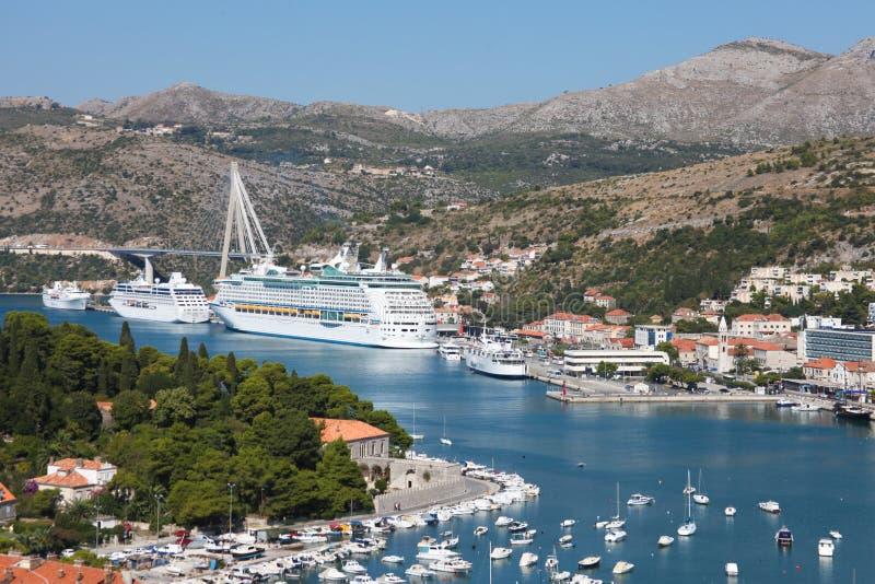 Porto de Dubrovnik foto de stock royalty free
