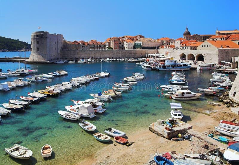 Porto de Dubrovnik, Croatia imagem de stock