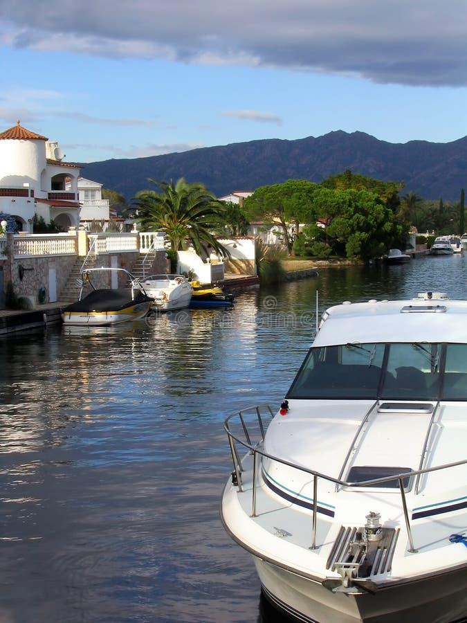 Porto de Empuriabrava fotografia de stock royalty free