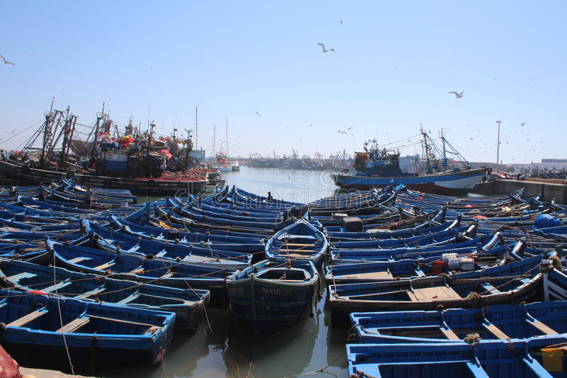 Porto de Essaouira, Marrocos foto de stock royalty free