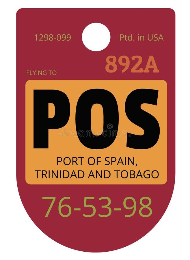 Porto - de - etiqueta da bagagem do aeroporto de spain ilustração stock