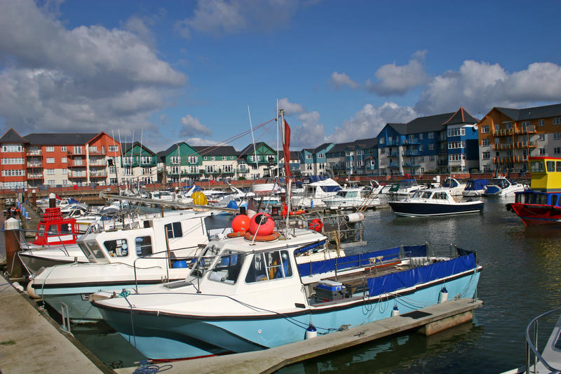 Porto de Exmouth imagem de stock royalty free