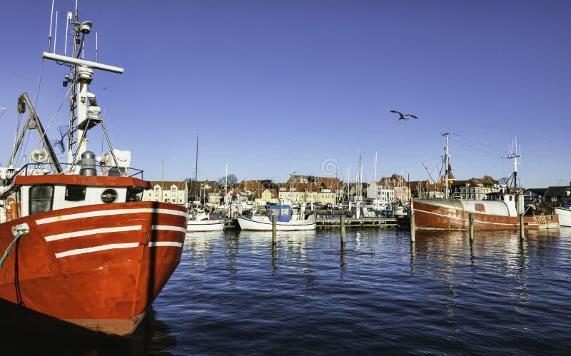 Porto de Faaborg em Dinamarca fotografia de stock