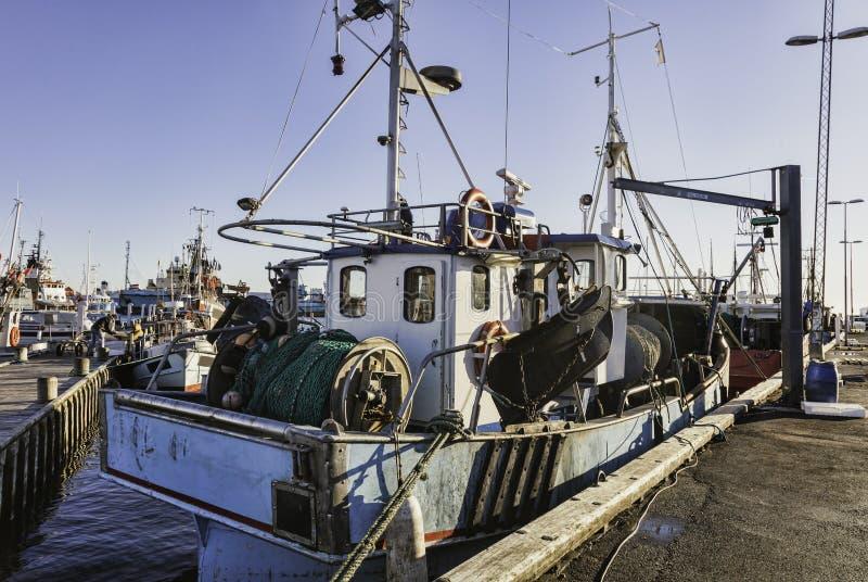 Porto de Faaborg em Dinamarca fotos de stock