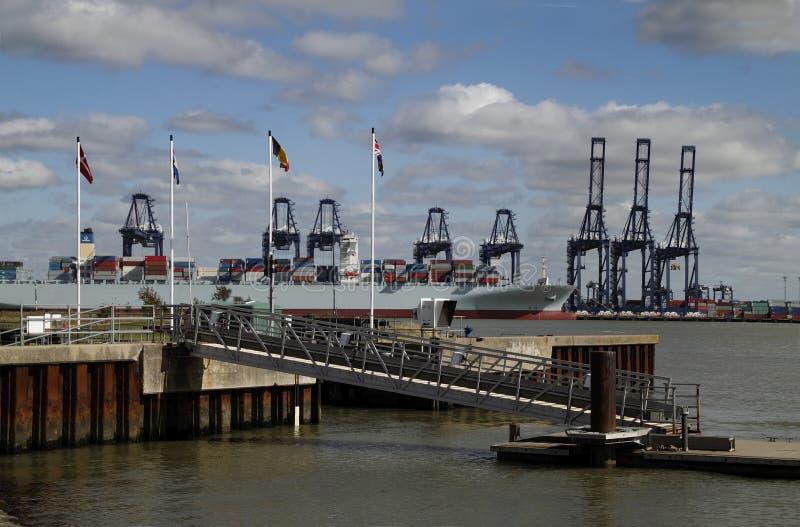 Porto de Felixstowe fotografia de stock