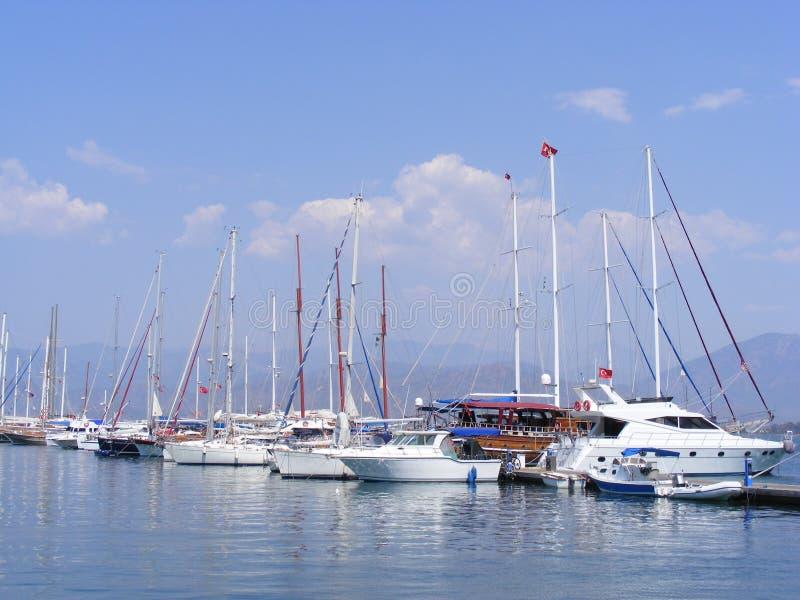 Porto de Fethiye fotos de stock royalty free