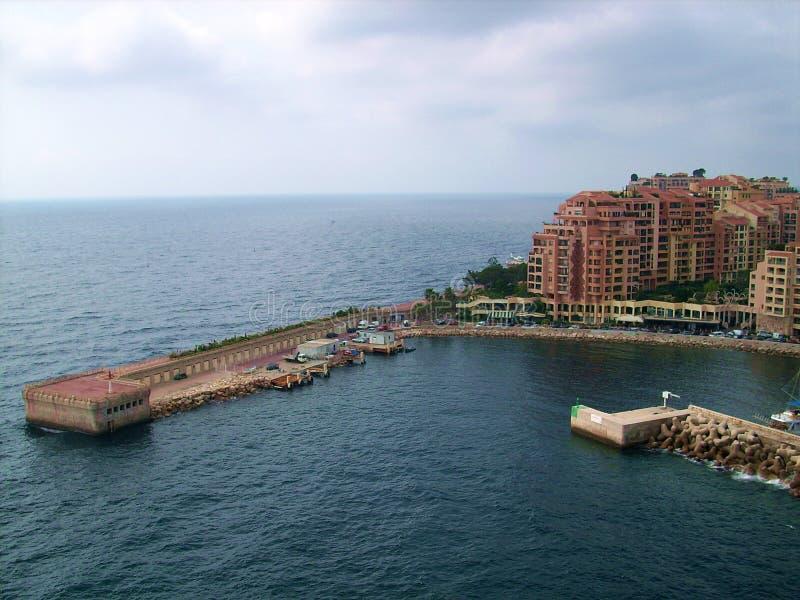 Porto de Fontvieille perto do monte Carlo Monaco fotografia de stock