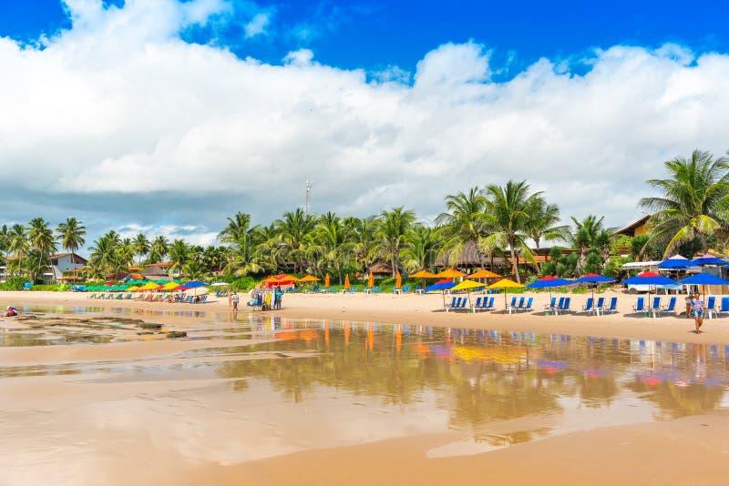 Porto de Galinhas Beach in Ipojuca Municipality, Pernambuco, Brazil.  stock images