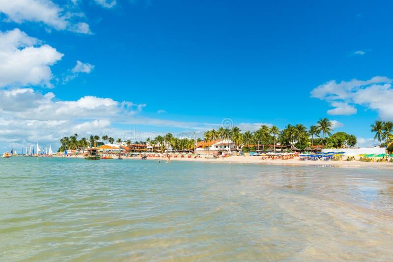 Porto de Galinhas Beach in Ipojuca Municipality, Pernambuco, Brazil.  royalty free stock photography
