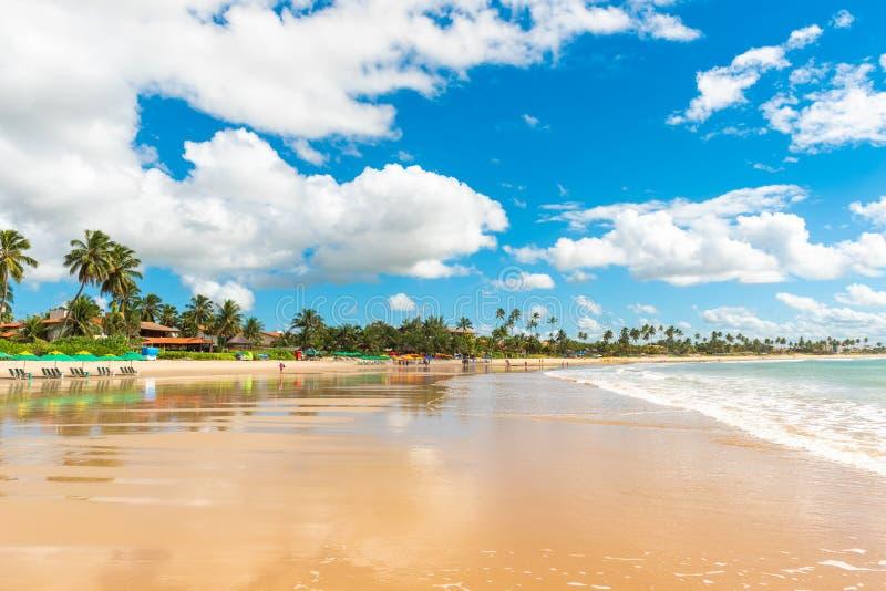 Porto de Galinhas Beach in Ipojuca Municipality, Pernambuco, Brazil.  stock photography