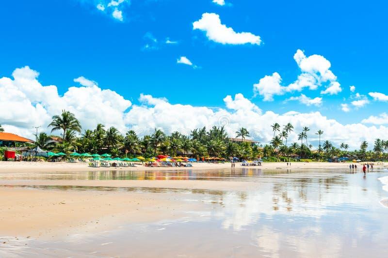 Porto de Galinhas Beach in Ipojuca Municipality, Pernambuco, Brazil.  royalty free stock images