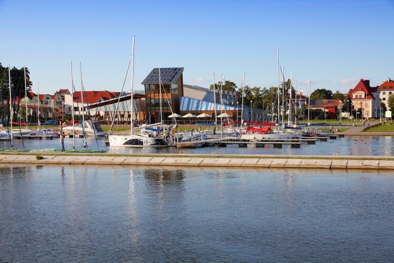 Porto de Gizycko imagens de stock royalty free